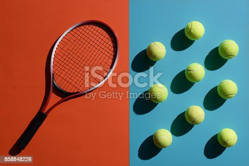 istock tennis racket and balls 858848226