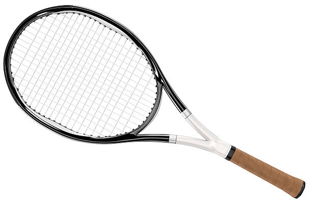 Tennis Racket Black And White Style Stock Photo