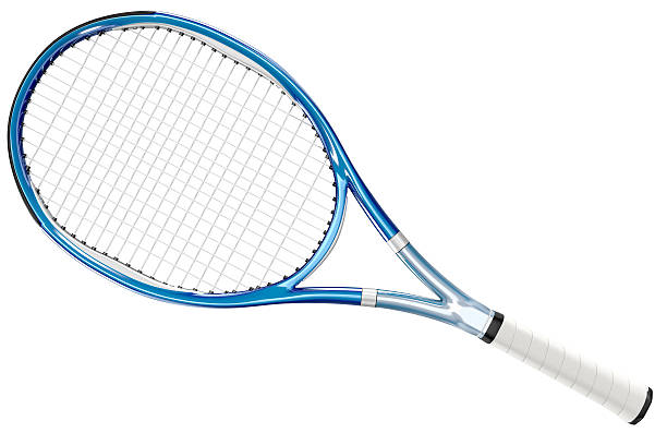 Tennis Racket Blue Style stock photo