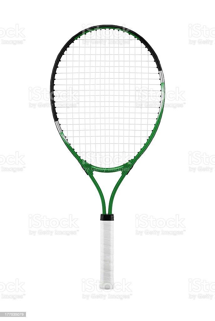 Tennis racket, isolated on white background stock photo