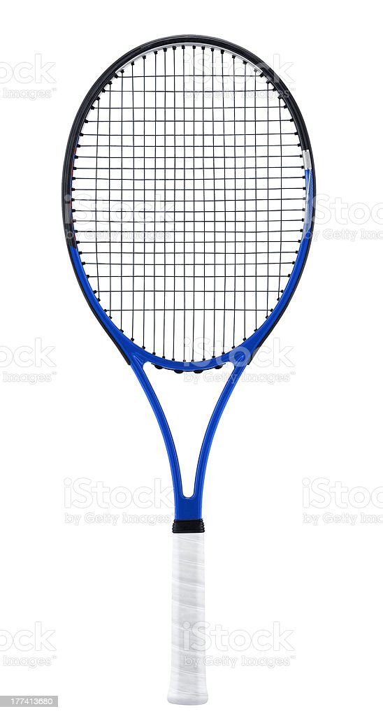 Tennis racket, isolated on white stock photo