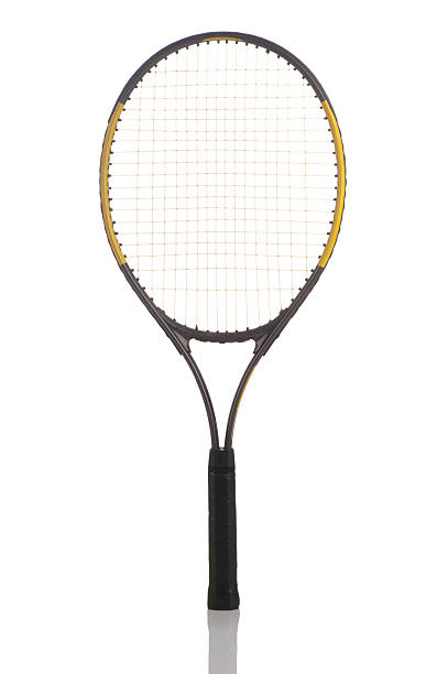 Tennis racket isolated stock photo