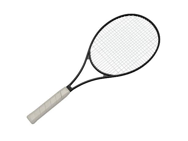 tennis racket stock photo