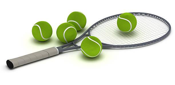 racchetta da tennis - set tennis o pallavolo foto e immagini stock