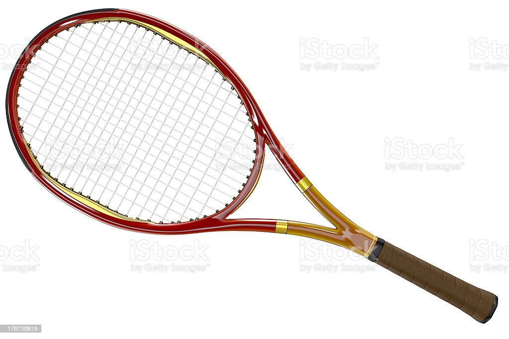 Tennis Racket Red Style stock photo