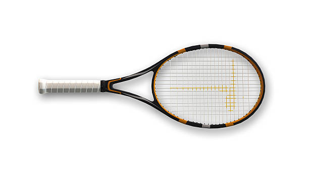 Tennis racket, top view stock photo