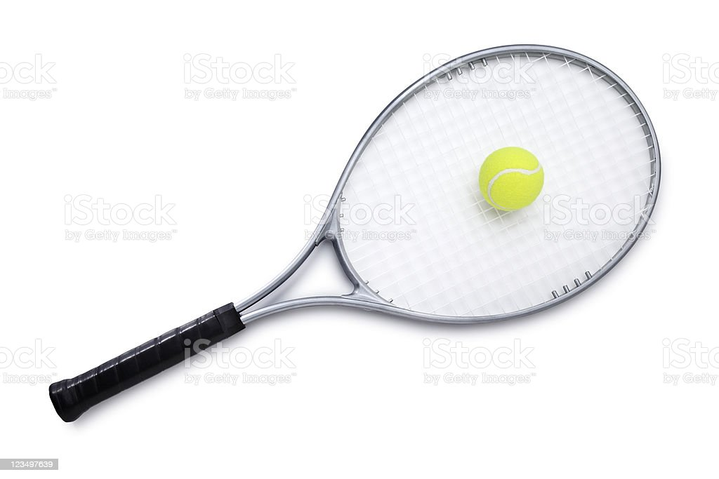 Tennis Racket with Ball stock photo
