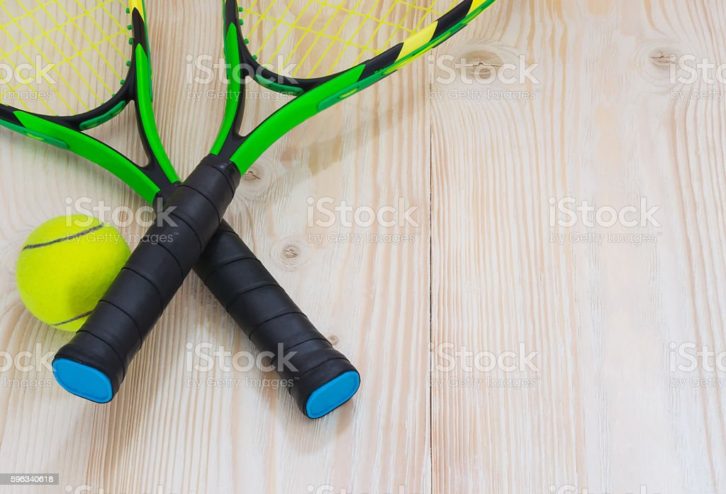 tennis racket with ball set royalty-free stock photo