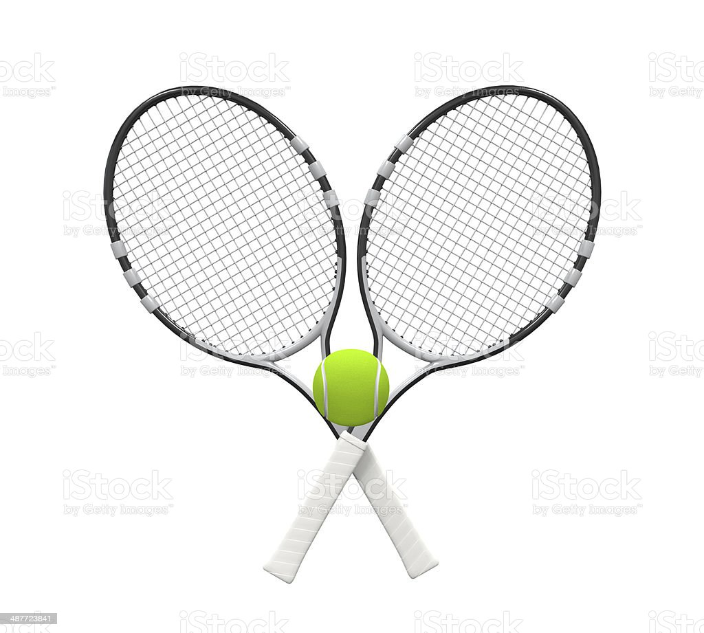 Tennis Rackets and Ball stock photo
