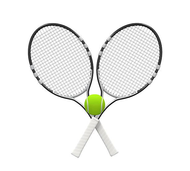 palla e racchette da tennis - icon set healthy foto e immagini stock