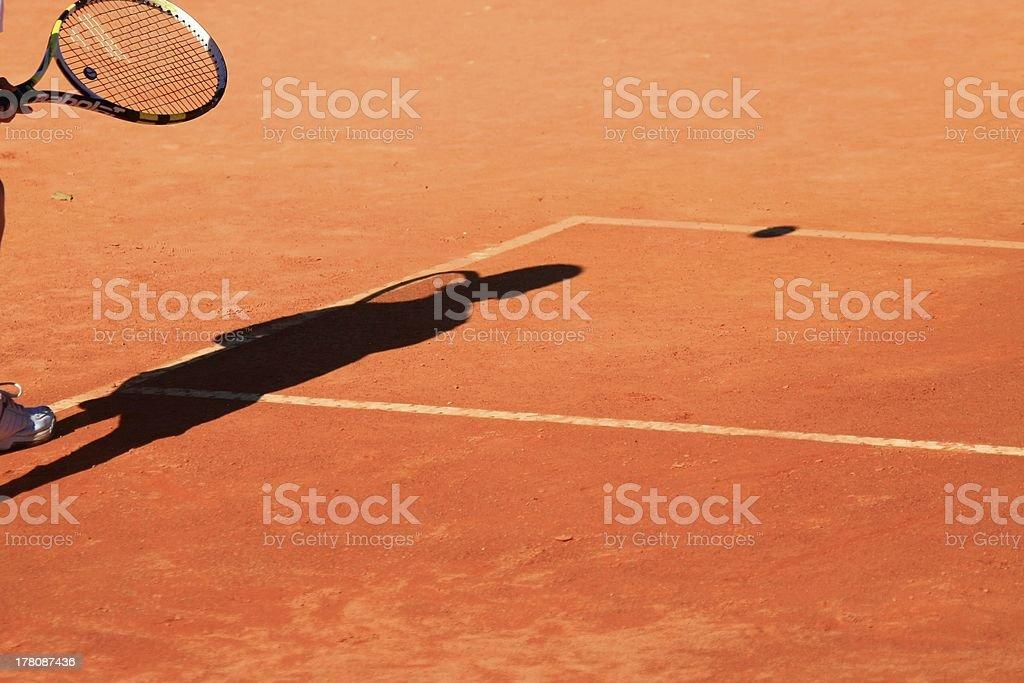 tennis racquet stock photo