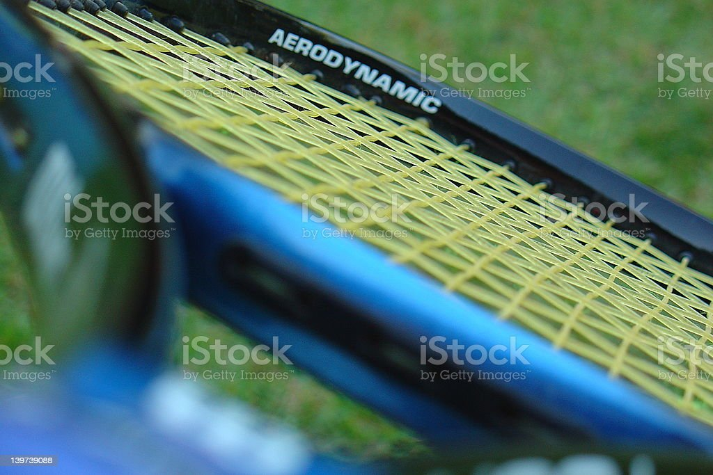 Tennis raquet royalty-free stock photo