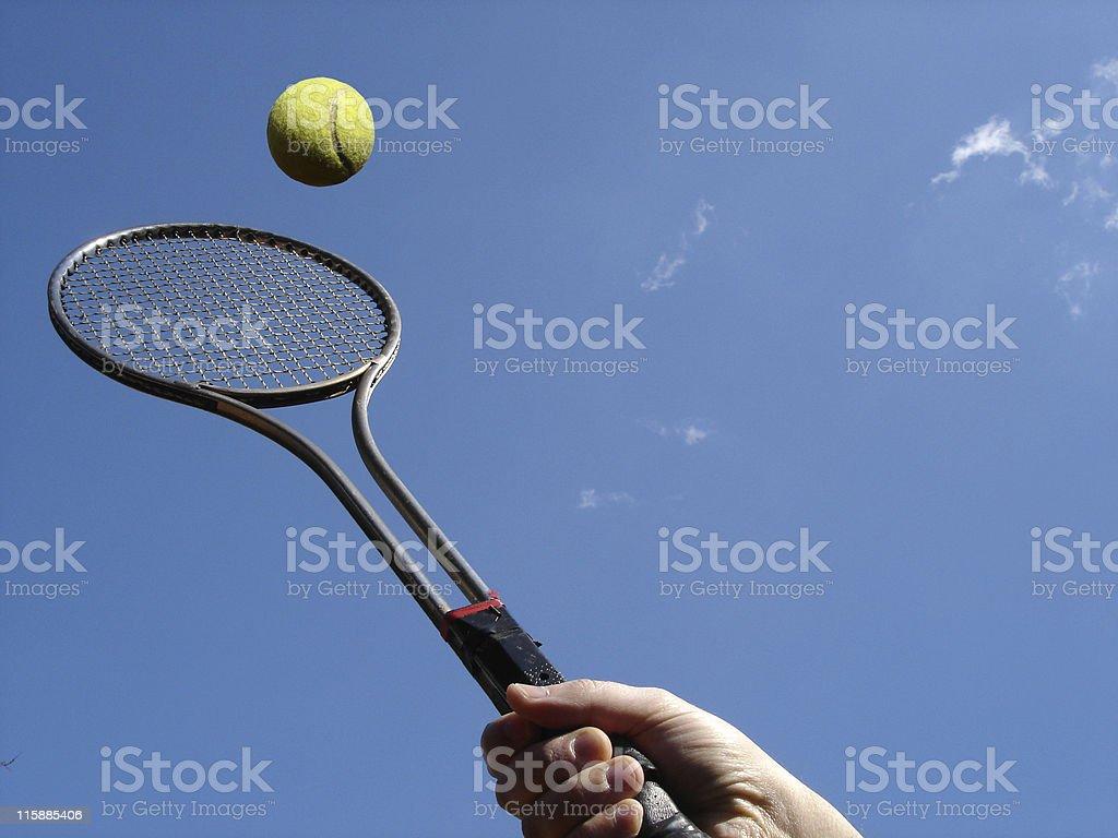 Tennis Return royalty-free stock photo