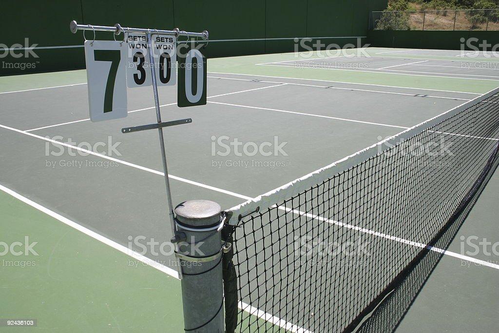 Tennis score stock photo