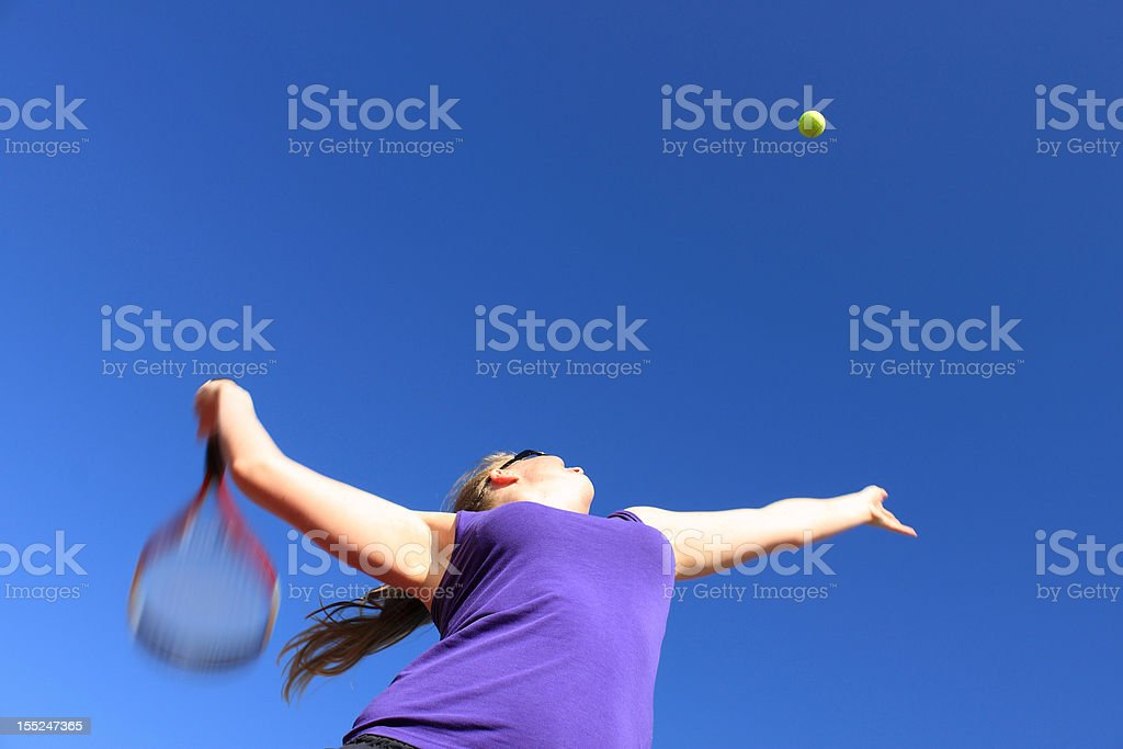 Tennis Serve, Blurred Motion royalty-free stock photo