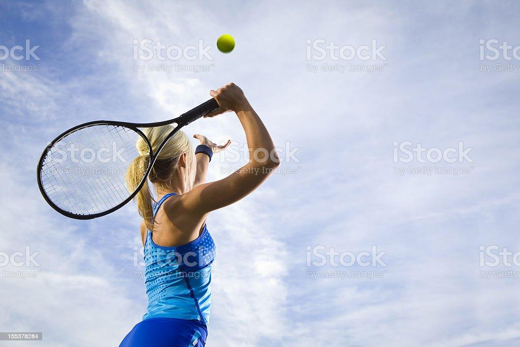Tennis-Aufschlag - Lizenzfrei Athlet Stock-Foto
