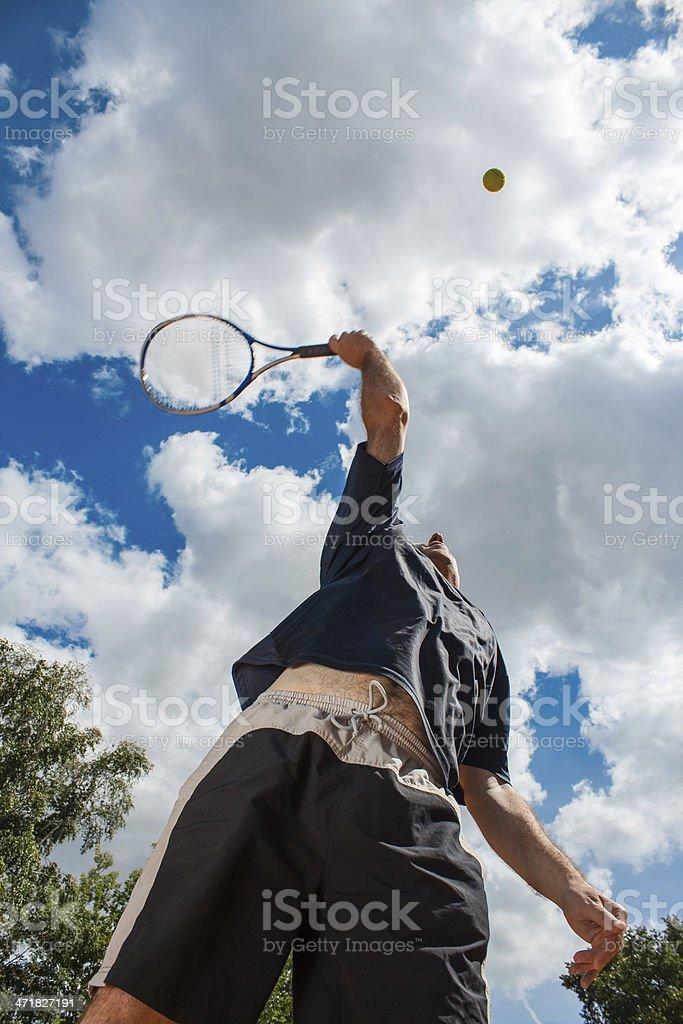 Tennis Serve royalty-free stock photo