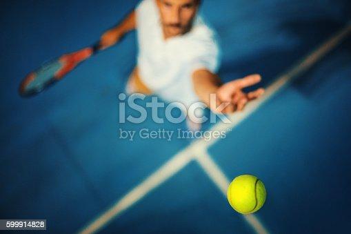 istock Tennis serve. 599914828