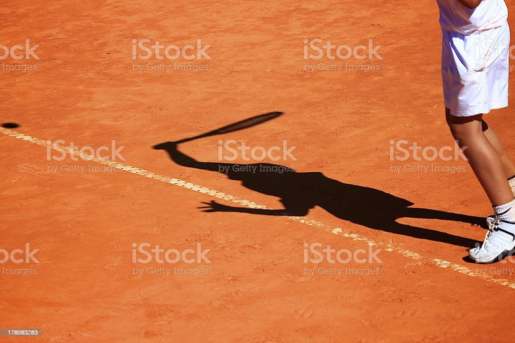 tennis service royalty-free stock photo