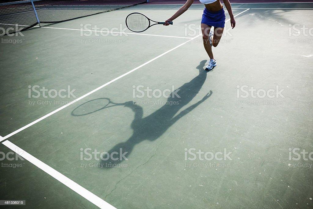 Tennis Shadow stock photo