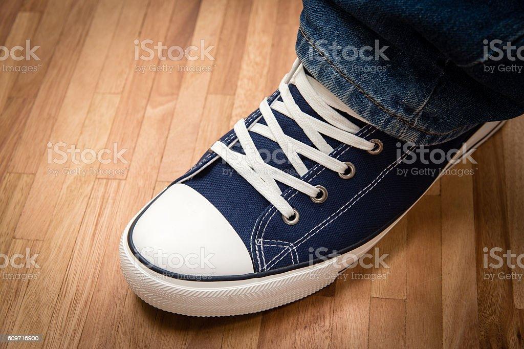 Tennis shoe stock photo