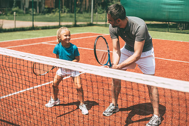 Tennis training. - foto de stock