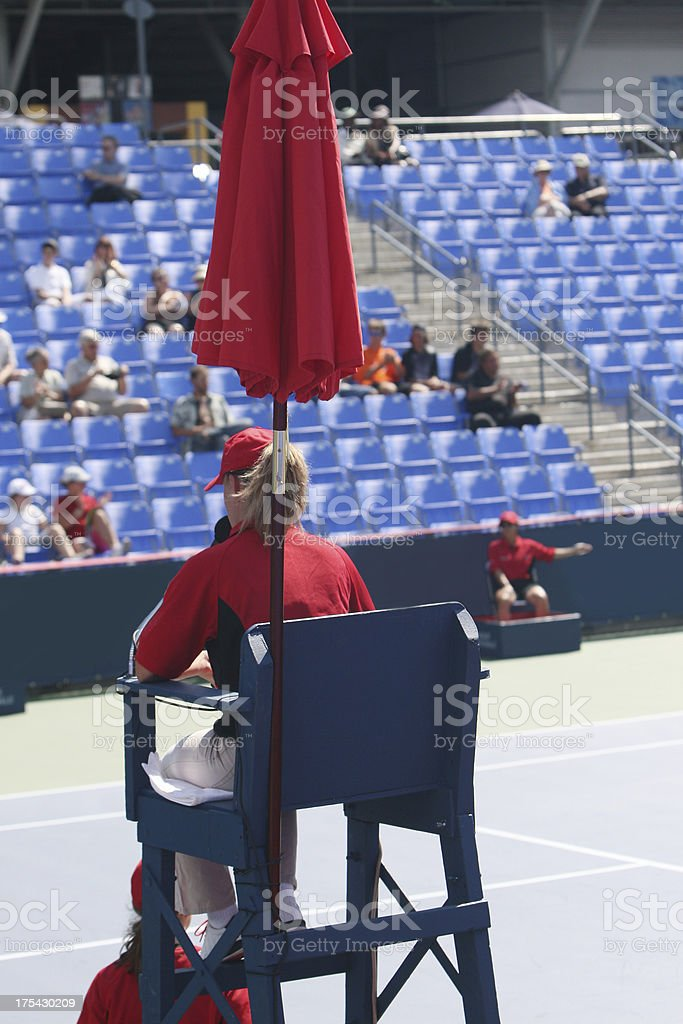 Tennis umpire stock photo