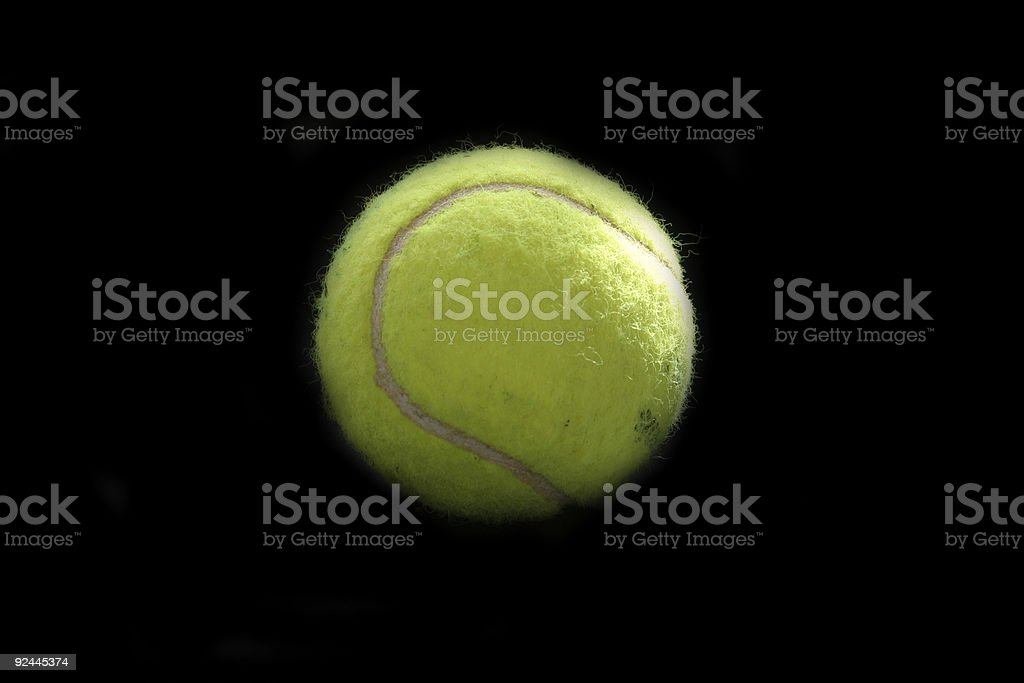 Tennisball (black isolated) royalty-free stock photo