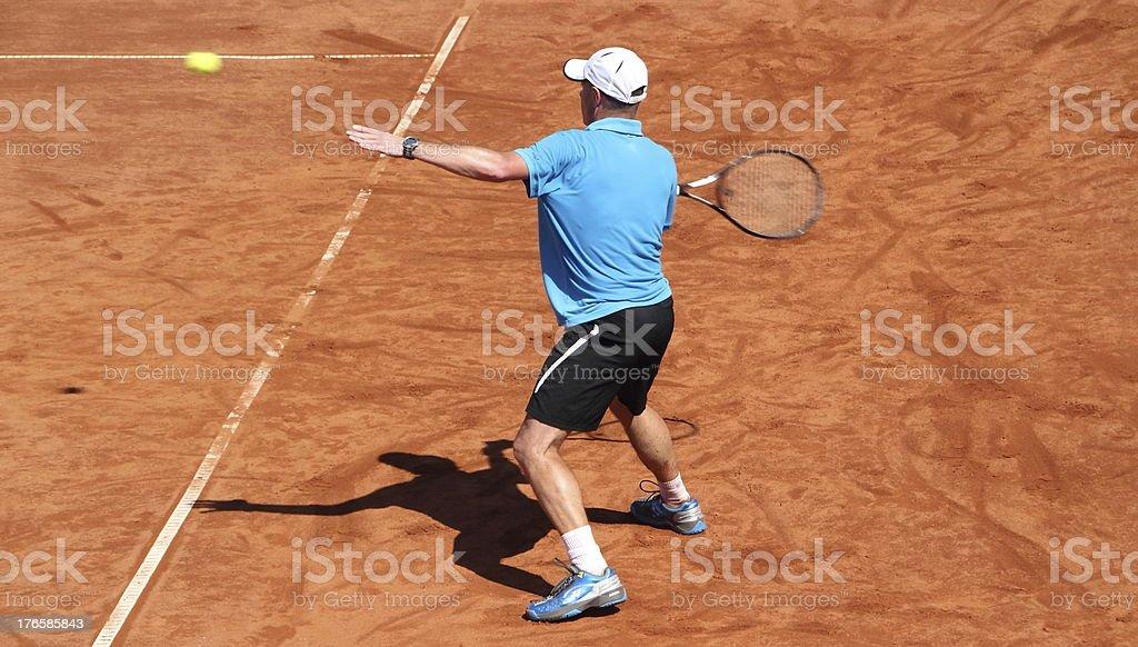 tennisplayer catching the ball royalty-free stock photo