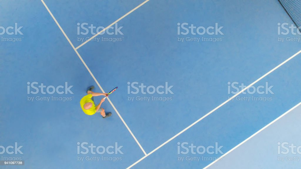 Tennisplayer From Above Royalty Free Stock Photo