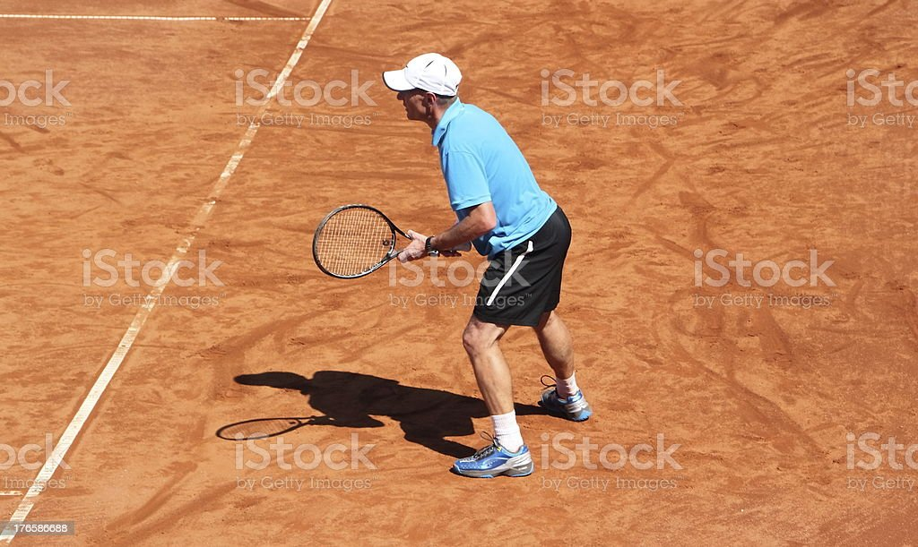 tennisplayer in action royalty-free stock photo