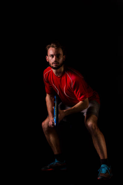 Tennisspieler warten dienen – Foto