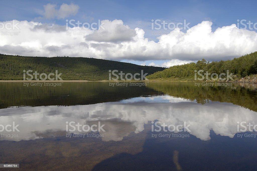 Teno River, Finnish Lapland royalty-free stock photo