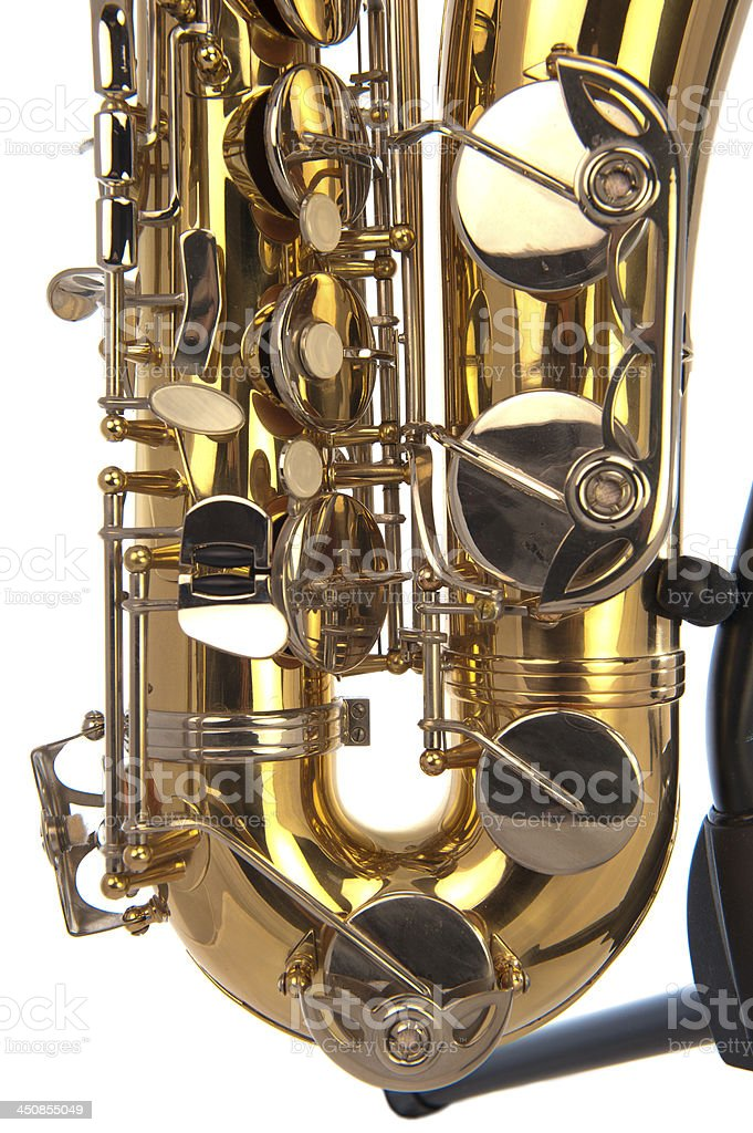 Tenor sax belly in close up stock photo