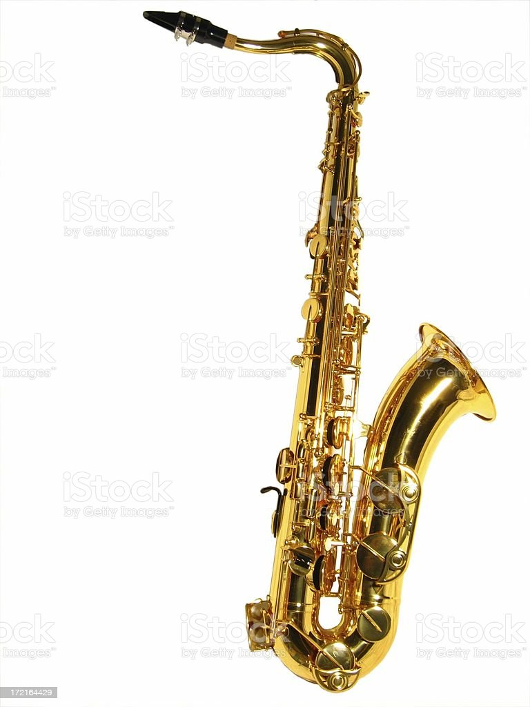 Tenor sax isolated stock photo