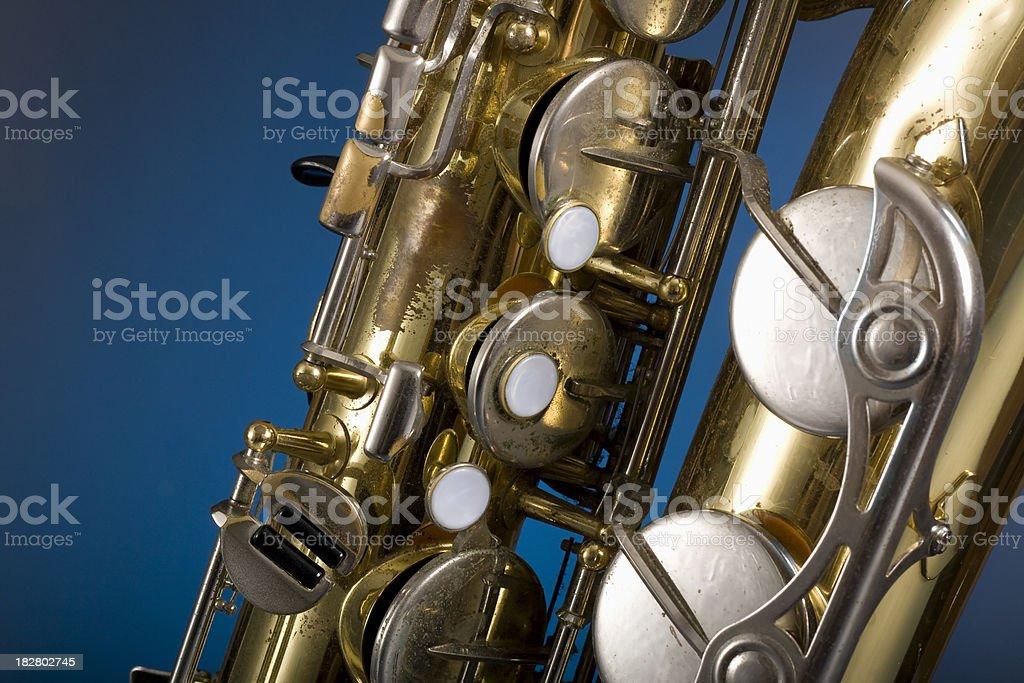 Tenor Saxophone close-up royalty-free stock photo