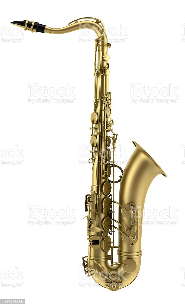 tenor saxophone isolated on white background royalty-free stock photo