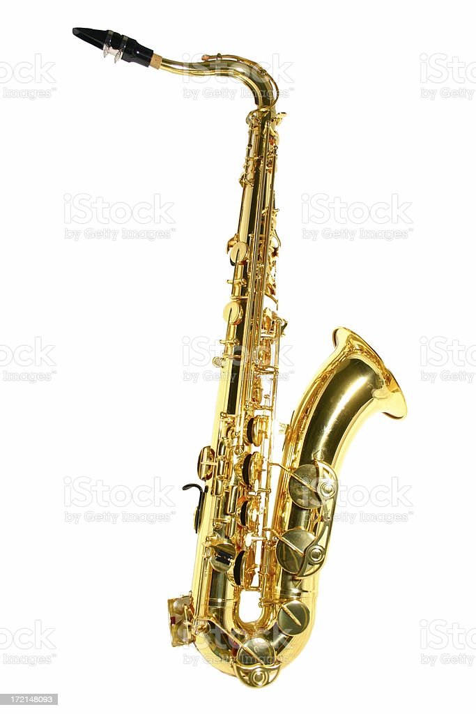 Tenor saxophone large royalty-free stock photo