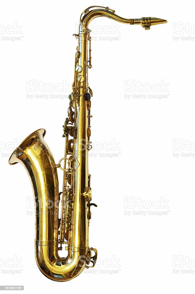 Tenor Saxophone (Path included) royalty-free stock photo