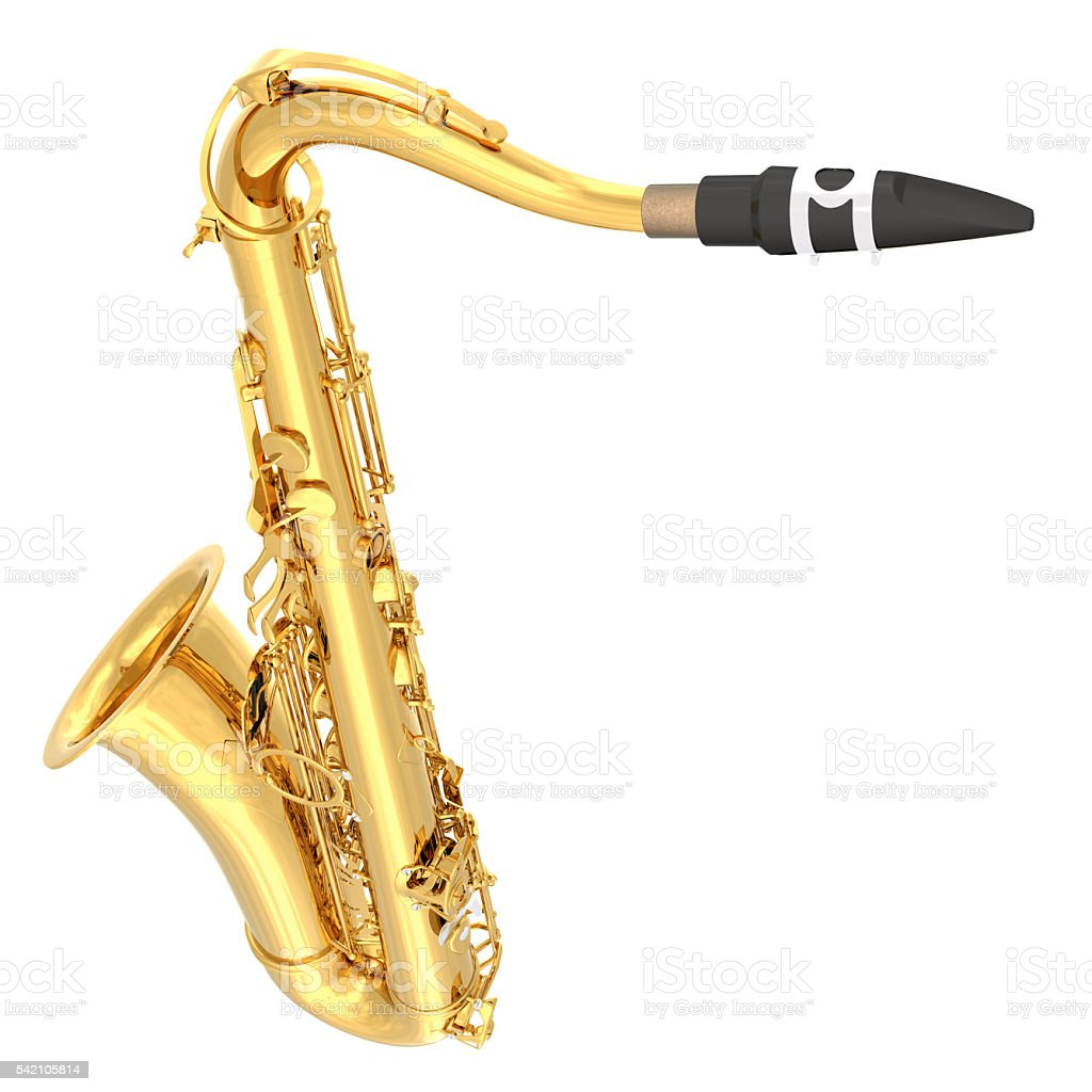 Tenor saxophone. stock photo