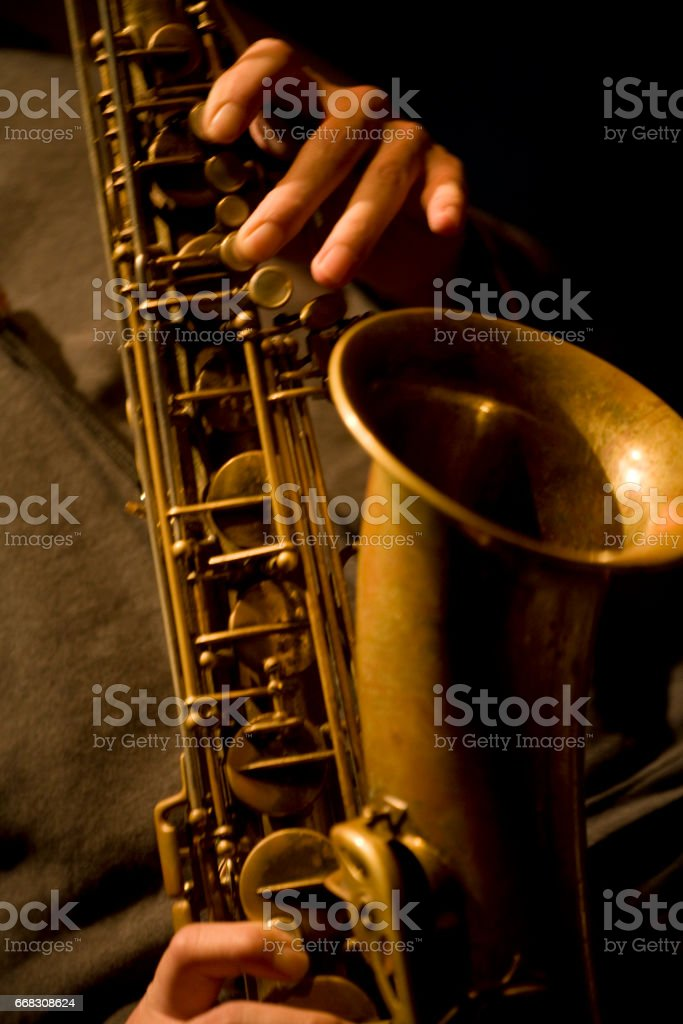 Tenor saxophone stock photo
