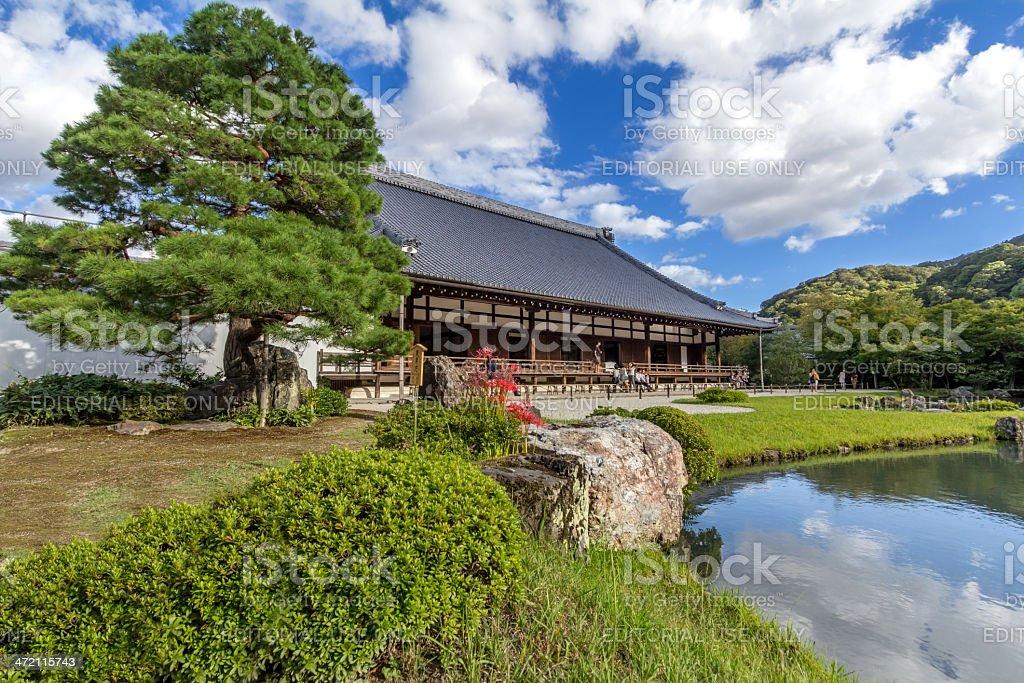 Tenryuji Temple stock photo