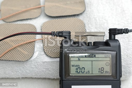 1092248526istockphoto Tens Unit with flexible electrode ,Medical equipment for Physica 545374742