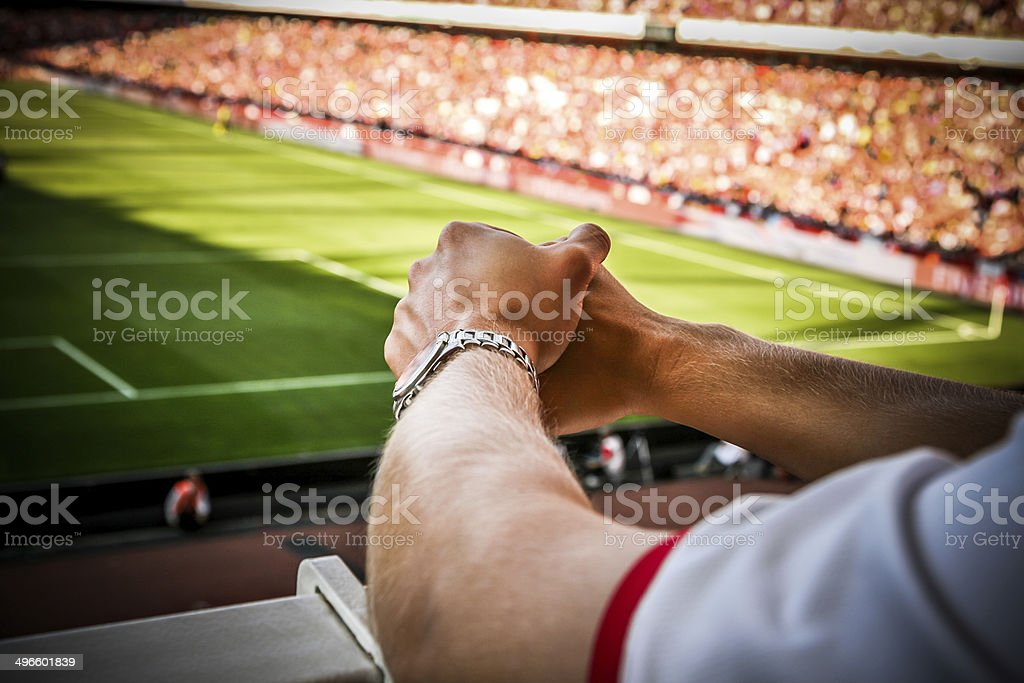 Tense Match stock photo