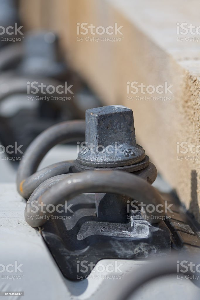 Tension clamp fastening royalty-free stock photo
