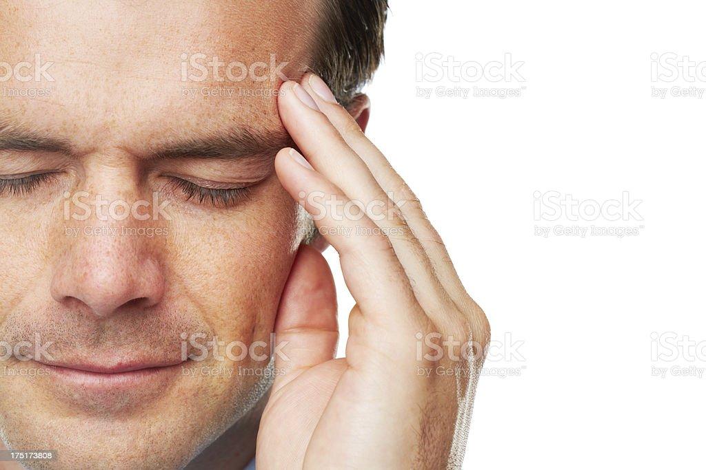 Tension headache royalty-free stock photo