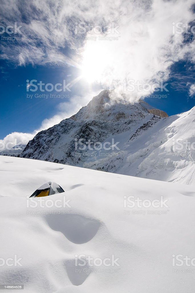 tent after storm royalty-free stock photo