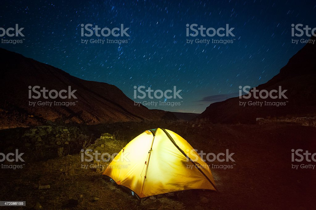 tent and stars royalty-free stock photo