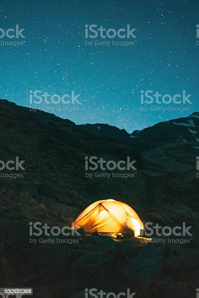 Photo of Tent at night