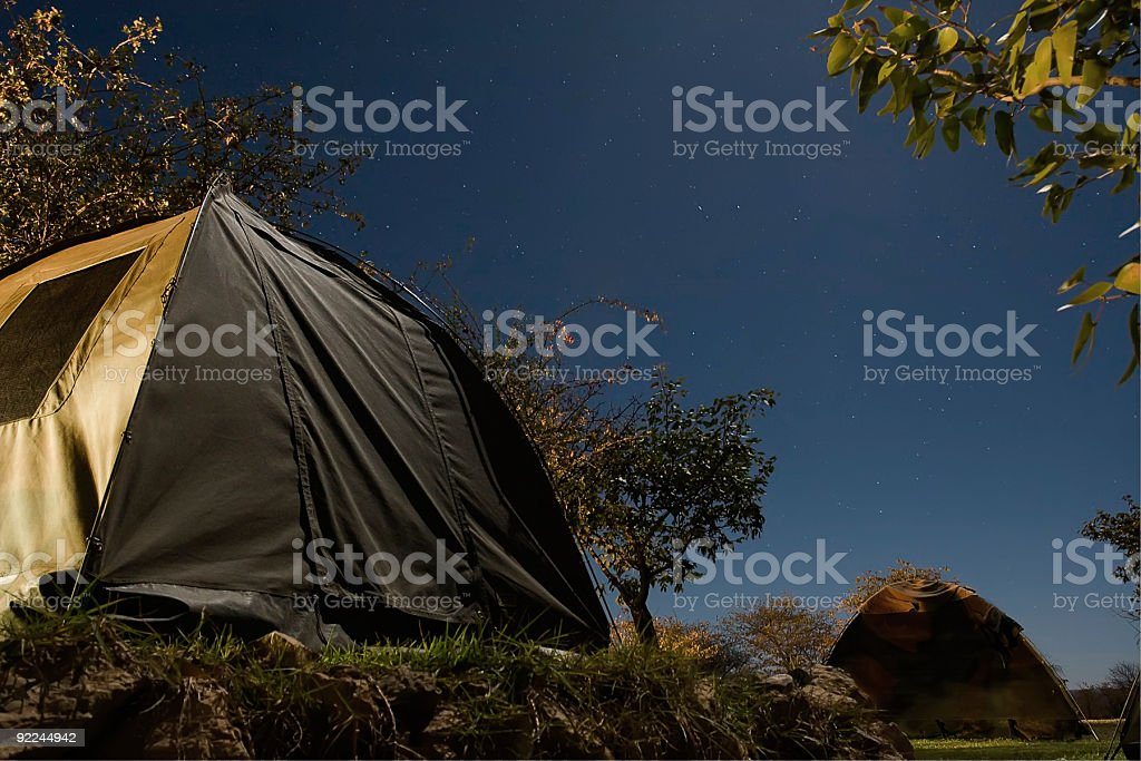 tent by night royalty-free stock photo
